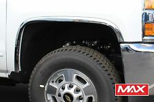 FTCH206 2016-2017 Chevrolet Silverado 1500 POLISHED Stainless Steel Fender Trim