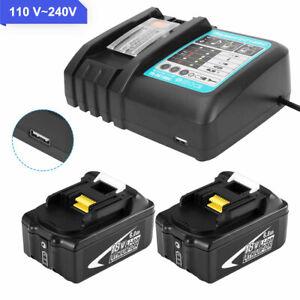 Battery for MAKITA 18V 6.0AH BL1020B BL1021B BL1041B BL1015 + Charger