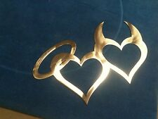 Heart Angel and devil Metal Wall Art Home Decor