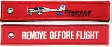 DIAMOND AIRCRAFT - REMOVE BEFORE FLIGHT - RED KEYCHAIN - KEY042