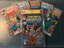 Infinity Gauntlet #1, 2, 3, 4, 5, 6! Complete NM Run Lot! CGC SS 8.5 Starlin!