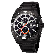 Men's Akribos XXIV AK652BK Swiss Day/Date Multifunction All Black Steel Watch
