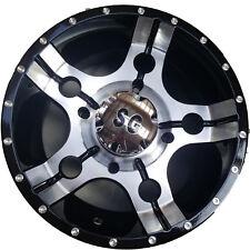 14x7 4/137 5+2 Super Grip ATV UTV RTV RIM WHEEL 5-Star Matte Black Machined Face