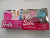 NEW in boxes 10 pc Barbie Doll House Furniture kitchen Accessory Pack Miniature