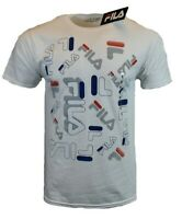 FILA Mens T Shirt M L XL 2XL Logo Athletic Sports Apparel Graphic Tee White NEW