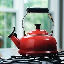 NEW IN BOX Le Creuset Cerise  Whistling Tea Kettle 1.7 quarts