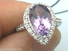 10k Ring With 4.58ctw Amethyst and Topaz Size N