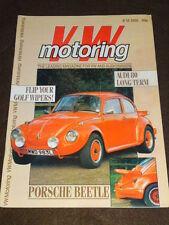 VW MOTORING - POSCHE BEETLE - June 1988