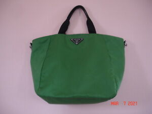 Beautiful PRADA Tessuto Large Tote bag in Apple Green color