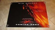 XXX movie poster TRIPLE X movie poster VIN DIESEL poster - original UK advance