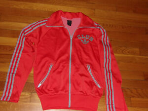 VINTAGE ADIDAS CLUB TREFOIL FULL ZIP ATHLETIC JACKET MENS SMALL EXCELLENT COND