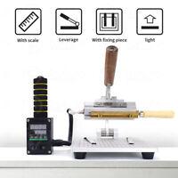 220V Manual Desktop T-slot Type Hot Stamping Machine Leather Logo PVC Bronzing