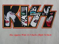 Large Size KISS Rock Music Band Embroidered Patches Iron or Sew on Coat/Jacket