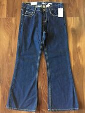 NEW girls OSH KOSH B'GOSH JEANS denim pants BOOT CUT adjustable size 10 PLUS 10P