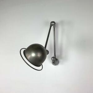 VINTAGE INDUSTRIAL STRIPPED AND POLISHED 2 ARM JIELDE WALL LAMP LIGHT