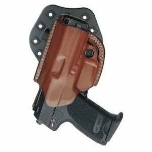 Aker Leather 268A FlatSider XR19 Open Top Paddle Holster for Glock 19/23, Tan...