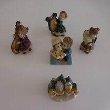 5 figurines musiciennes danse de couple famille en résine AFIBEL