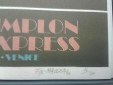 Collezione originale Venice Simplon Orient Express di Fix Masseau