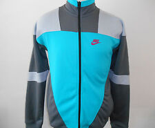 NWT!!! NIKE COLORBLOCK TRACK JACKET MEN NWT 586778-383 GRAY/TURQUOISE Size S