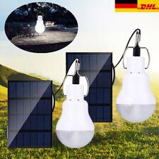 2stk 15W Solar Glühbirne Lampe Solarleuchte Zeltlampe LED Camping Außenleuchte