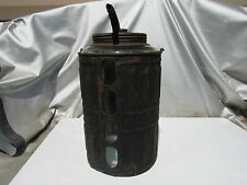 Antique 1878 Queen 1 Gal Glass Kerosene Fuel Oil Lamp Filler Bottle Can Oil Rare