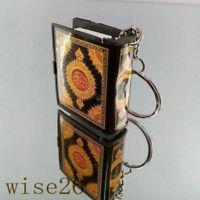Car Key Gift Chain Quran Charm Book Islamic Keyring Resin Home Mini Ark Key