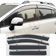 For Subaru XV W'Silver Strip' Window Visor Vent Sun Rain Guard 2018 Year