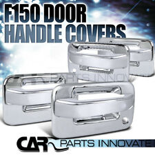 04-12 F150 4Dr ABS Chrome Door Handle Cover Trim+Key Holes w/o Keypad