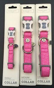 Sydney & Co  Pink Grapefruit Dog Collar Various Sizes
