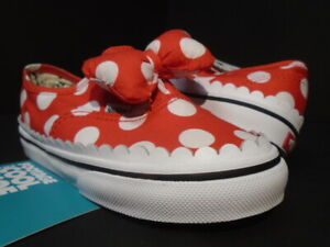 BABY VANS AUTHENTIC GORE DISNEY MINNIE'S MOUSE BOW RED WHITE VN0A3ZC6UJ3 10T 10