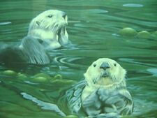 "Terry Pyles ""Sea Otters"" Print  Framed 1987 Signed & Numbered 211/1800 SEA LIFE"