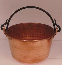 Perol d cobre hecho a mano asa de hierro. Perol handmade copper with iron handle