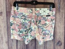 Miss Me Cargo Floral Shorts Size 25 CP4021h1 Rose Print Pink SUPER CUTE! 3a2