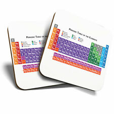 2 x Coasters - Periodic Table Science Elements Uni Home Gift #8168