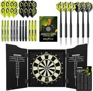 Winmau Dartboard set Michael van Gerwen cabinet and darts mvg Superb gift New!