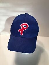 """Trucker Hat Baseball  Blue """"P"""" Patriots on back Red, White & Blue Fitted 7 3/8"""