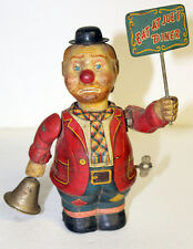 Vintage Tin Litho Wind Up Toy Sandwich Man -- Eat At Joe's Diner -- Rare Antique
