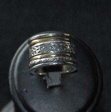 "SILPADA - R2293 - Brass & Sterling Silver ""Twirl"" Ring Sz 7"