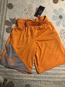 Boys Under Armour Orange Shorts Size YS NWT