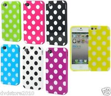 Custodia BACK POIS Cover Case per Apple iPhone 4 4s Rigida Pallini TPU Gomma