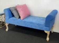 BED END ARM BENCH-CABALT BLUE