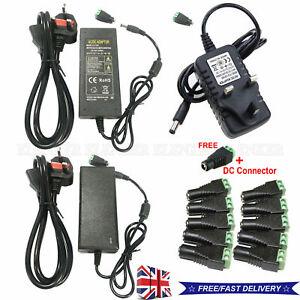 Wholesale Power Supply Adapter DC 12V 2/3/5/6/8/10A 3528 5050 LED Strip Light UK