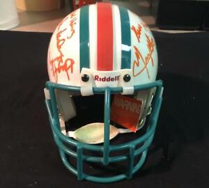 1972 Dolphins Mini Helmet Signed Auto by 10 Guaranteed to Pass PSA/JSA