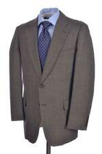 PAUL STUART Brown Birdseye 100% Wool Classic Jacket Pants SUIT Mens - 41 R