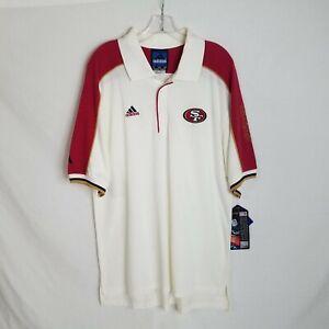 NEW Vintage Adidas Mens San Francisco 49ers S/S Polo Shirt Size Large D211P