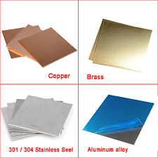 Copper, Brass, Aluminum, Stainless Sheet Square Plate 0.01-10mm | 100,200,300MM