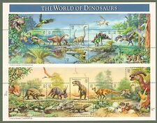 {BJ Stamps}  3136  World of Dinosaurs.  MNH 32 cent sheet of 15. Issued in 1997.