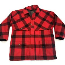 Eddie Bauer Goose Down Buffalo Plaid Wool Mackinaw Coat Jacket Cruiser L Tall