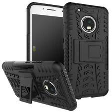 HYBRID COQUE 2 Pièces Extérieur Noir pour Lenovo Moto G5 plus étui housse coque