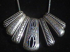 Sunburst Silver tone necklace, so nice!